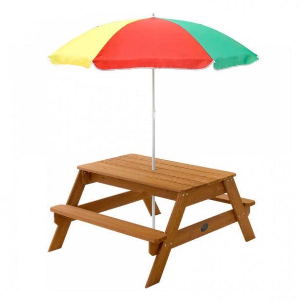 Plum Picnic table with Umbrella