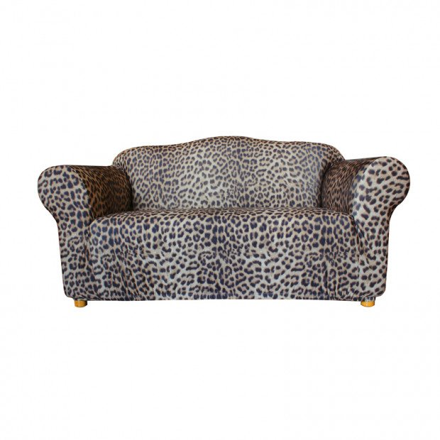 Sure Fit 2 Seater Pearson Sofa Cover - Leopard Print