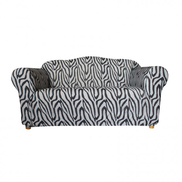 Sure Fit 2 Seater Pearson Sofa Cover - Zebra Print