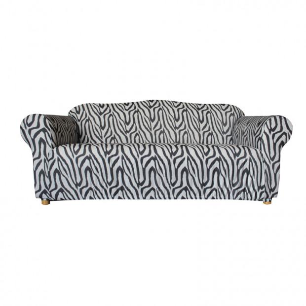 Sure Fit 3 Seater Pearson Sofa Cover - Signature Zebra Print