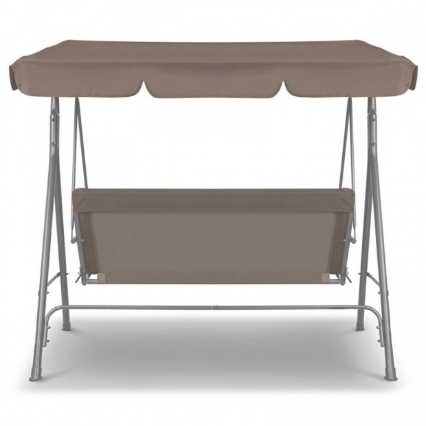 Milano Outdoor Swing Bench Seat Chair Canopy Furniture Hammock Coffee Image 5