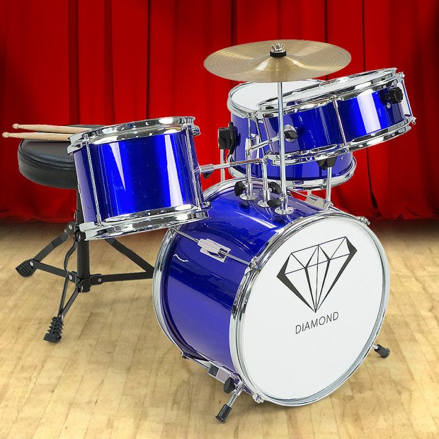 Kids 4 Piece Drum Kit - BLUE