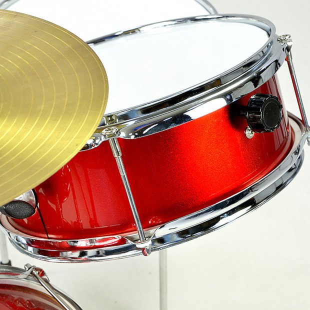 Kids 4 Piece Drum Kit -RED Image 2