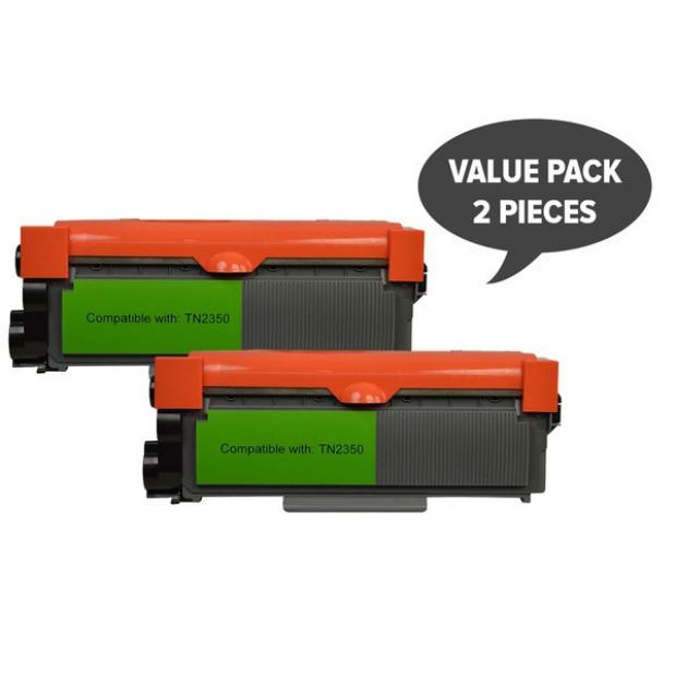 2x Premium Generic Toner Cartridge to Suit Brother TN-2350