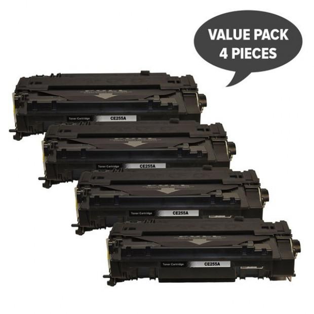 Suit HP. CE255A #55A Black Compatible Laser Toner x 4