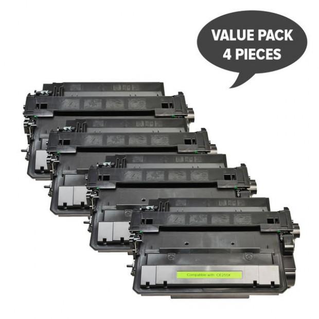 Suit HP. CE255X #55X Black Compatible Laser Toner x 4
