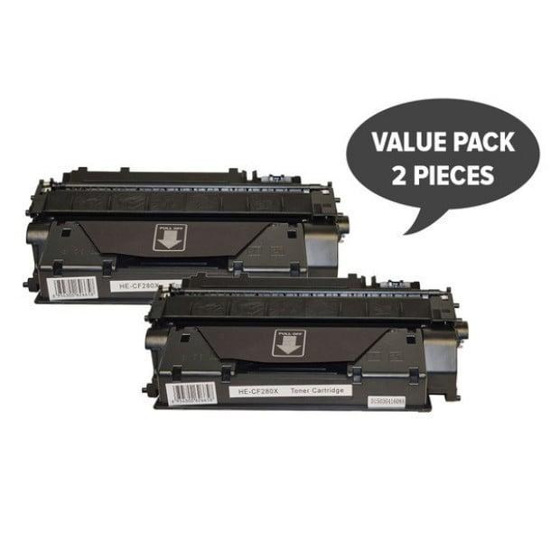 2x Premium Toner Cartridge to suit HP CF280X, 80x