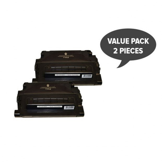 Suit HP. 2 x CE390A #90A Premium Generic Cartridge