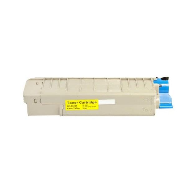 Suit Oki. C610 44315309 Yellow Premium Generic Toner Cartridge