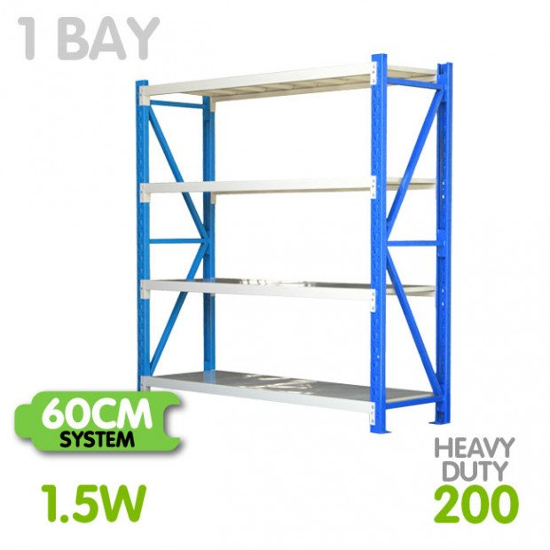 Long span shelving 1.5m-wide 800kg