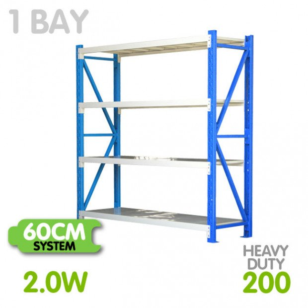 Long span shelving 2m-wide 800kg