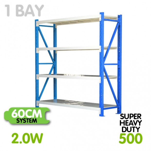 Long span shelving 2m-wide 2000kg