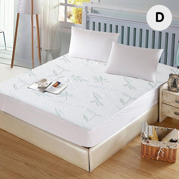 Waterproof Bamboo Fully Fitted Mattress Protector Double