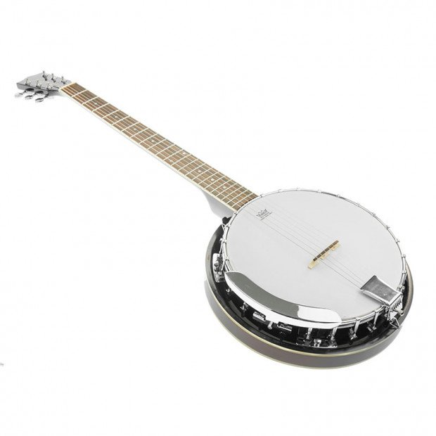 6 String Resonator Banjo - Brown
