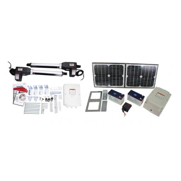 1000kg 20w Solar Double Swing Auto Motor Remote Gate Opener Image 1