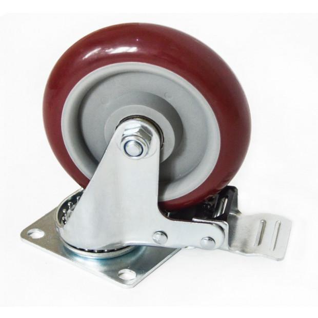4 X 5 Inch Heavy Duty 400kg Swivel Castor Wheels Furniture Caster Image 2