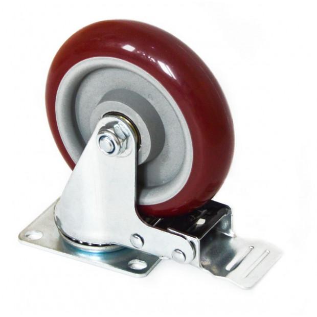 4 X 5 Inch Heavy Duty 400kg Swivel Castor Wheels Furniture Caster Image 3