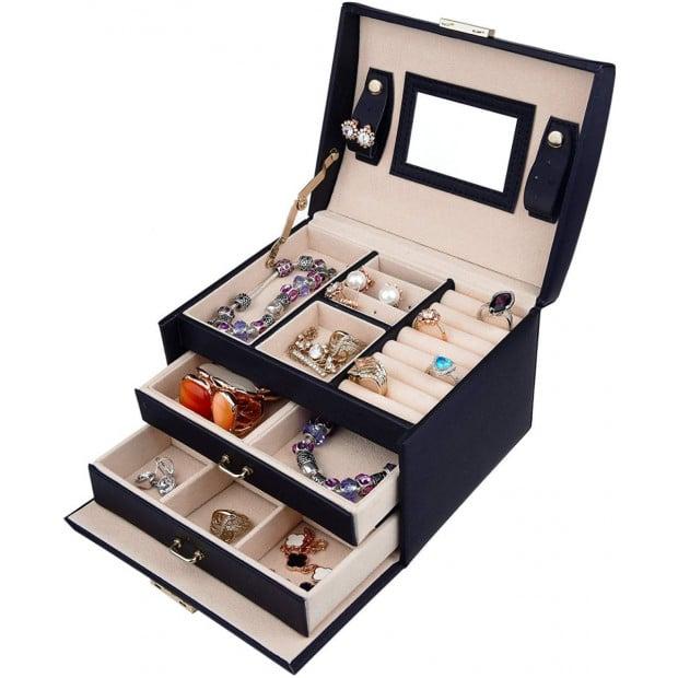 Jewellery Storage Box Girls Rings Necklaces Display  Storage Case