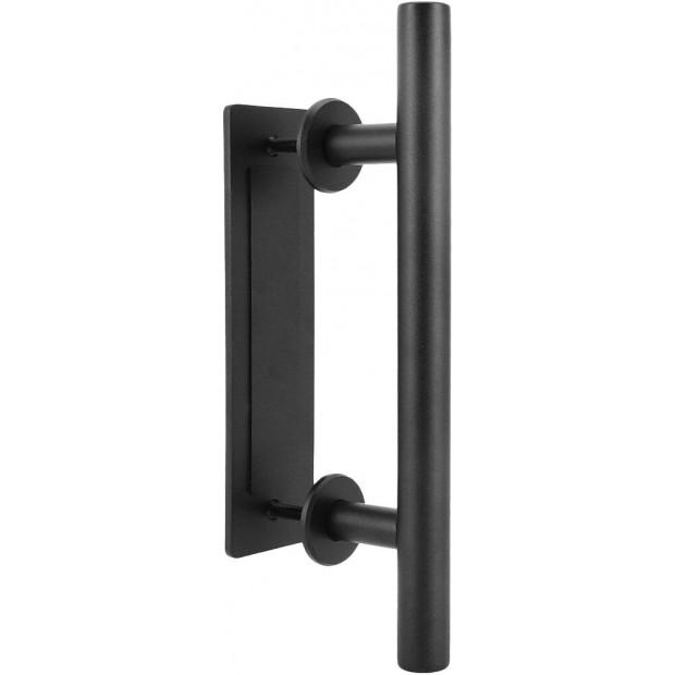 Carbon Steel Door Handle & Flush Pull Wood Door Gate Hardware 12 Inch Image 3