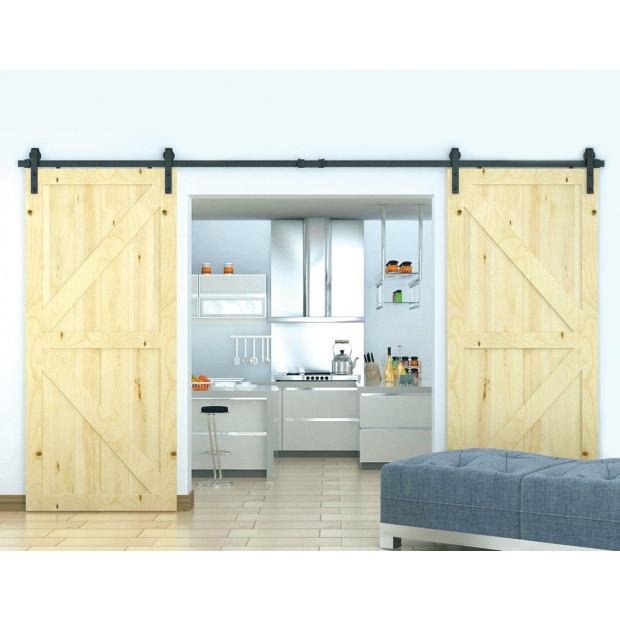 3.6m Sliding Barn Door Hardware Image 1
