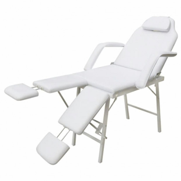 White Treatment Chair With Ajustable Legrests