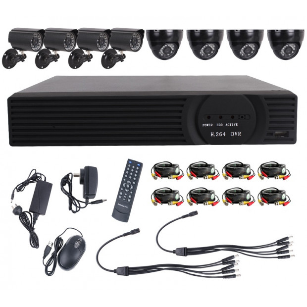 Home Security Camera Surveillance System 8 Channel 720p with 1TB Hard Drive