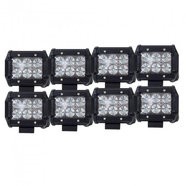 8X 4inch CREE LED Work Light Bar Flood Beam Save On 35W/45W Reverse