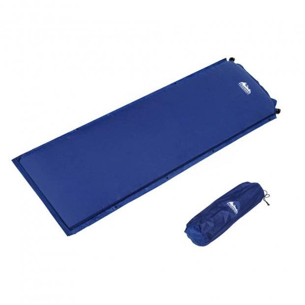 Self inflating Mattress Single 6cm Blue