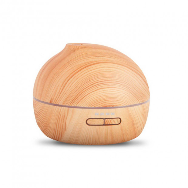 4 in 1 Ultrasonic Aroma Diffuser 300ml - Light Wood Round