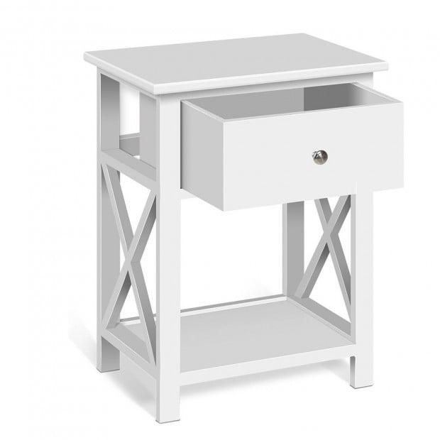 Timber Bedside Side Table