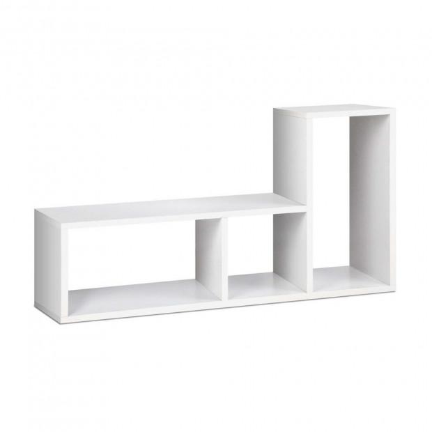 DIY L Shaped Display Shelf - White
