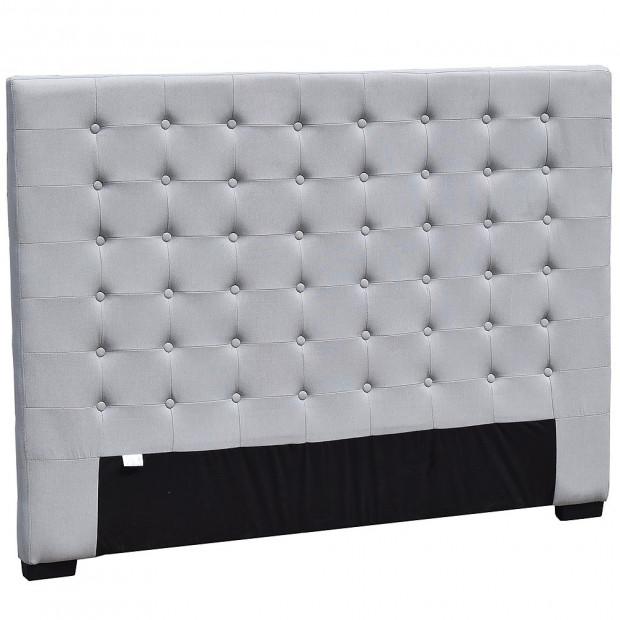 Queen Size Linen Fabric Bed Head Headboard - Grey