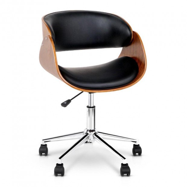 Faux Leather Curved Office Chair