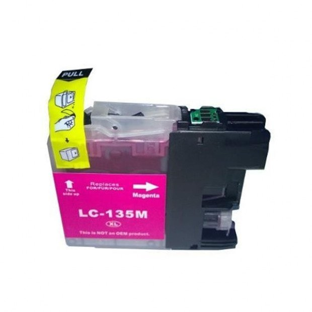Suit Brother. LC135XL Magenta Compatible Inkjet Cartridge