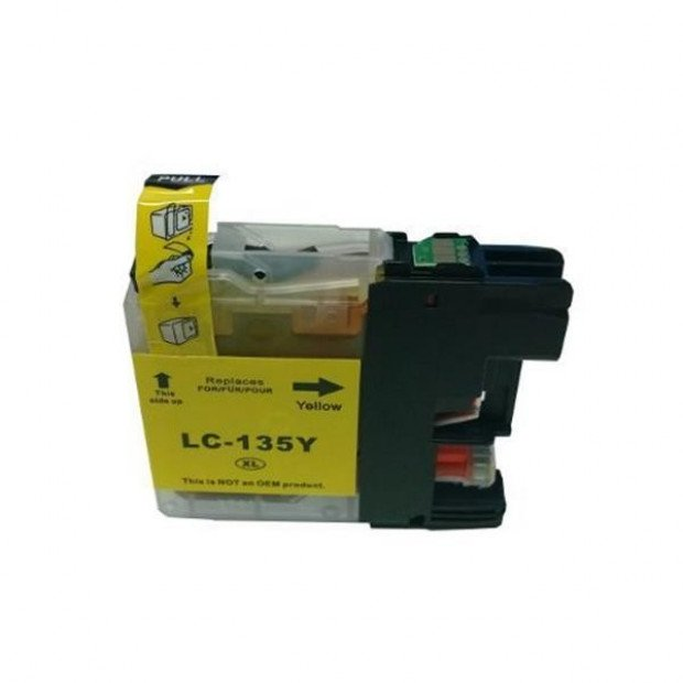 Suit Brother. LC135XL Yellow Compatible Inkjet Cartridge