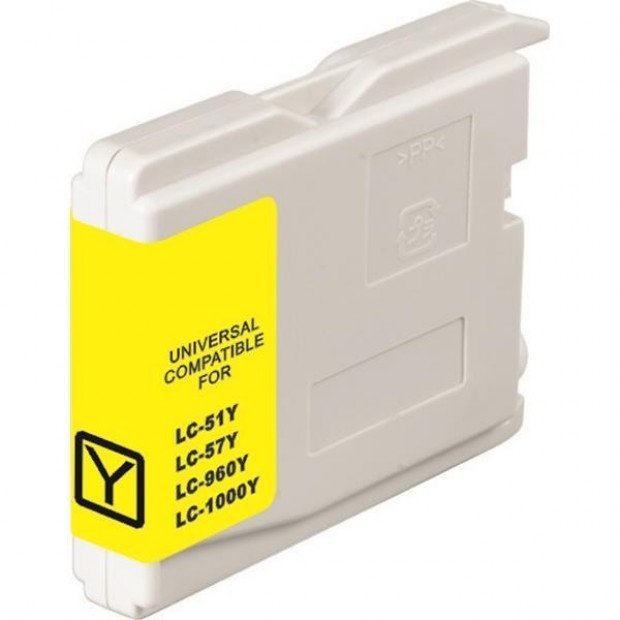 Suit Brother. LC37 LC57 Yellow Compatible Inkjet Cartridge