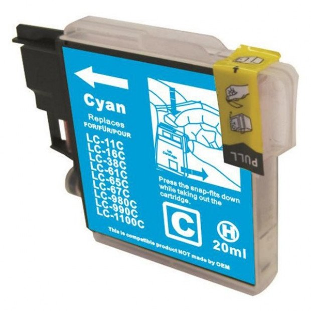 Suit Brother. LC38 LC67 Cyan Compatible Inkjet Cartridge