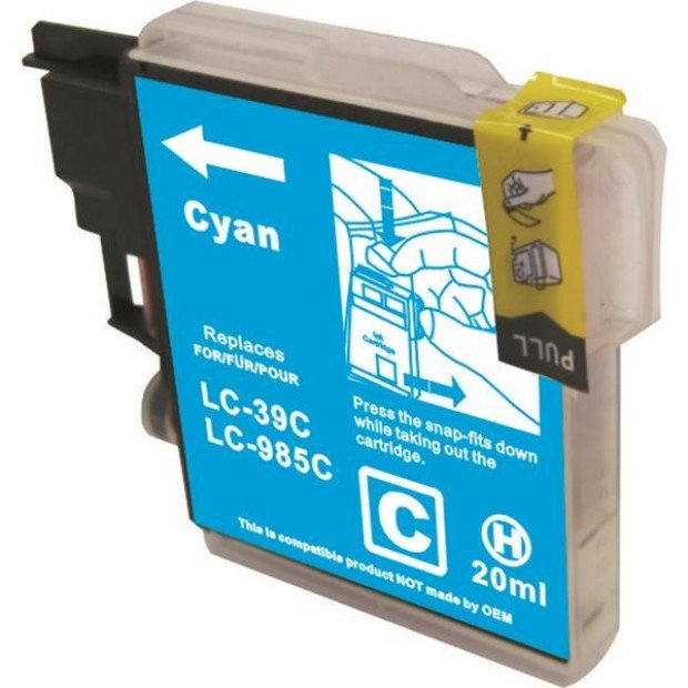 Suit Brother. LC39 Compatible Cyan Cartridge