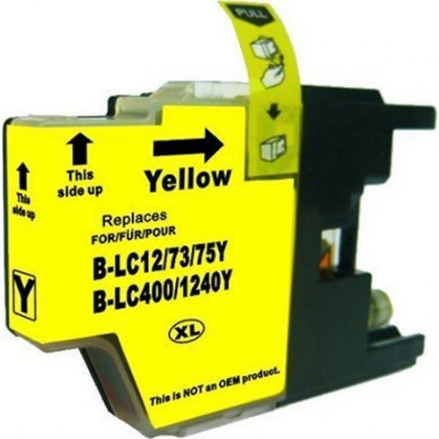 Suit Brother. LC73XL Yellow Compatible Inkjet Cartridge