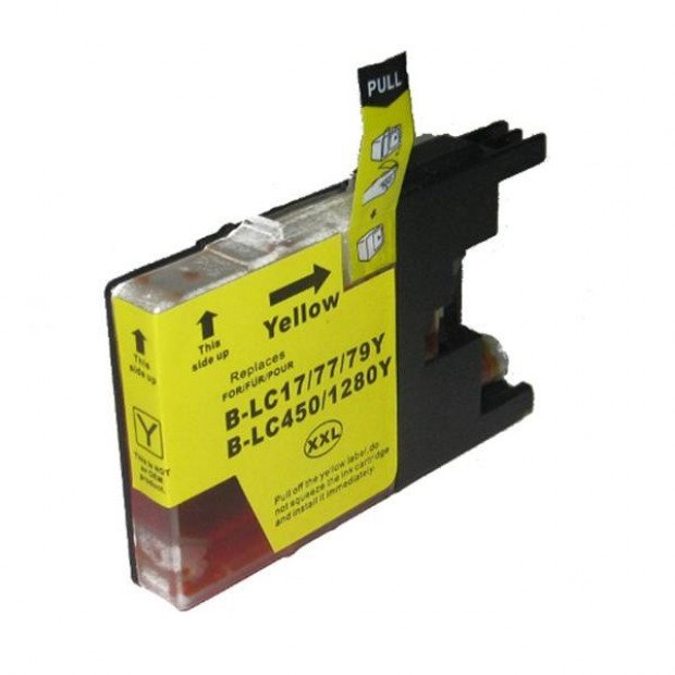 Suit Brother. LC77XL Yellow Compatible Inkjet Cartridge