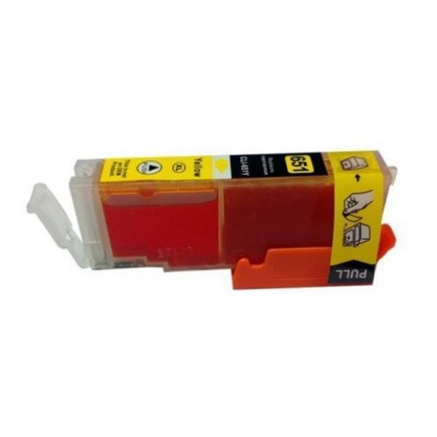 Suit Canon. CLI-651XL Yellow Compatible Inkjet Cartridge