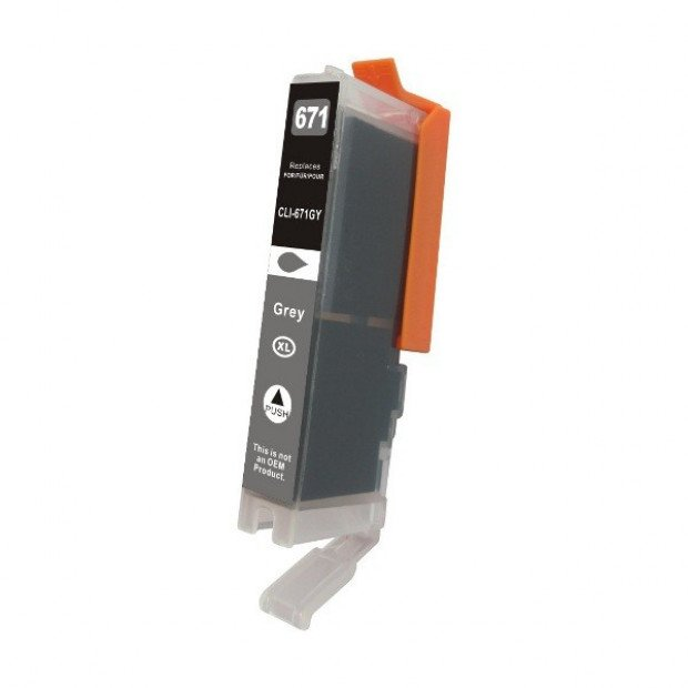 Suit Canon. CLI-671XL Gray Premium Compatible Inkjet Cartridge