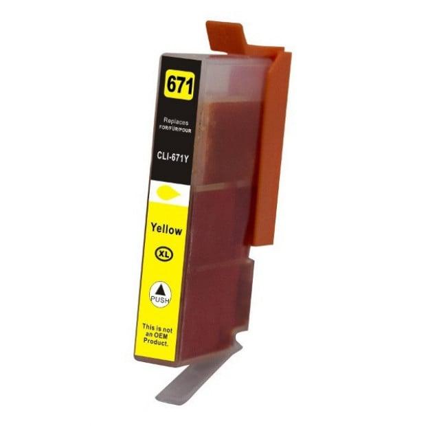 Suit Canon. CLI-671XL Yellow Premium Compatible Inkjet Cartridge