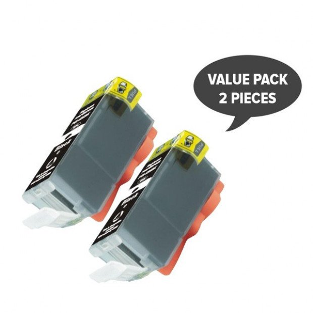 2x Pigment Black Inkjet Cartridge to Suit Canon PGI-525