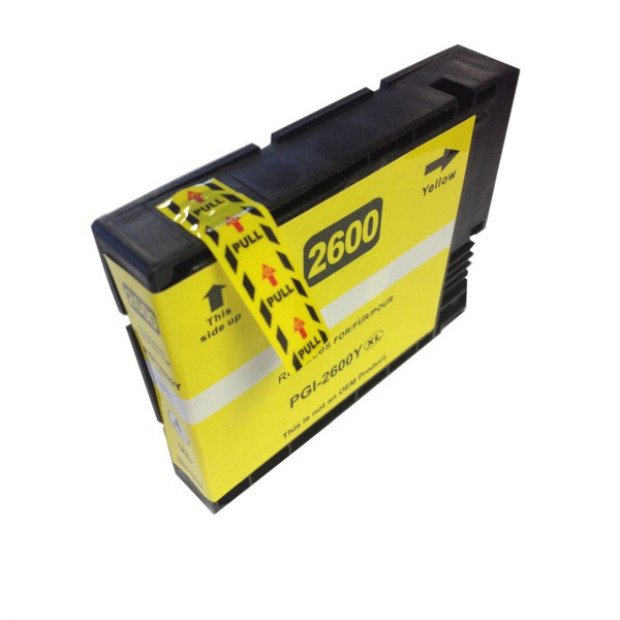 Suit Canon. PGI-2600XL Pigment Yellow Compatible Inkjet Cartridge