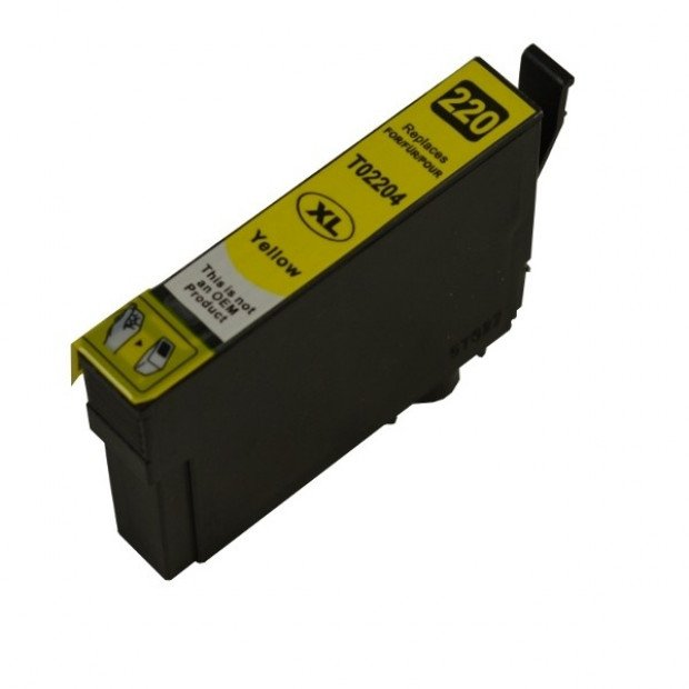 Suit Epson. 220YXL Yellow Premium Compatible Inkjet Cartridge
