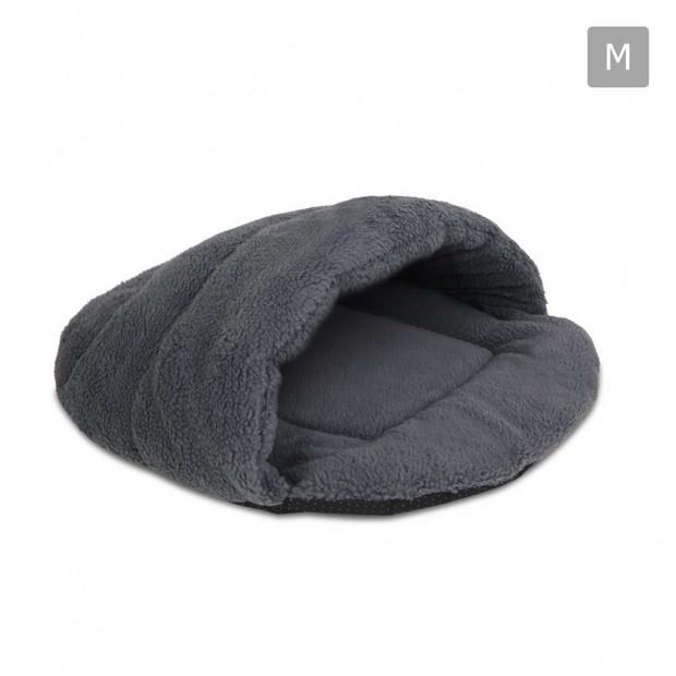 Cave Style Pet Bed Grey -Medium