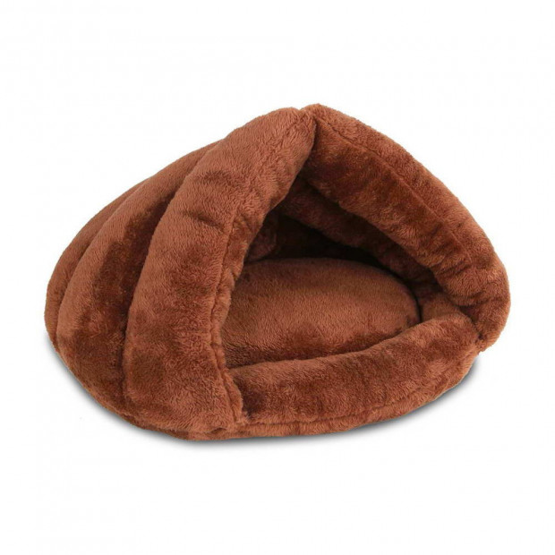 Cave Style Pet Bed Brown