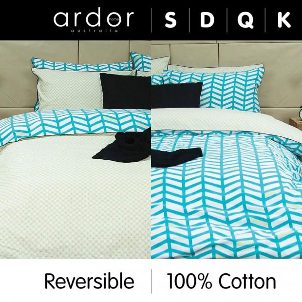 Banyan - Reversible Quilt Cover Set 100% Cotton