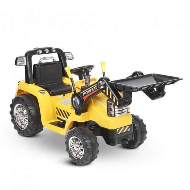 Kids Ride On Bulldozer - Yellow